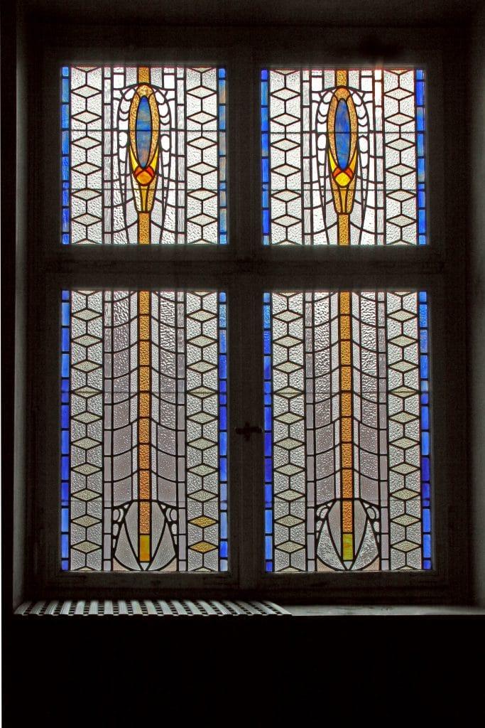 Badehaus 3 Jugendstil-Fenster Bad Nauheim Sprudelhof