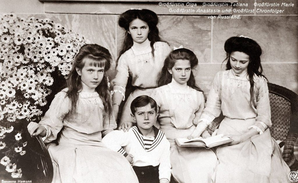 Kinder des letzten russischen Zaren Nikolaus II. - Foto Susanne Homann