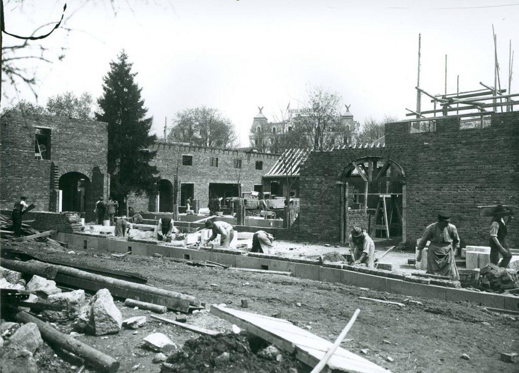 Nachhaltigkeit: der Erhalt von alten Bäumen auf der Baustelle von Badehaus 3 - Sprudelhof Bad Nauheim